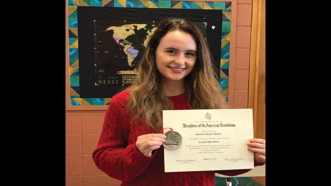 Campion student honored with Good Citizen Award
